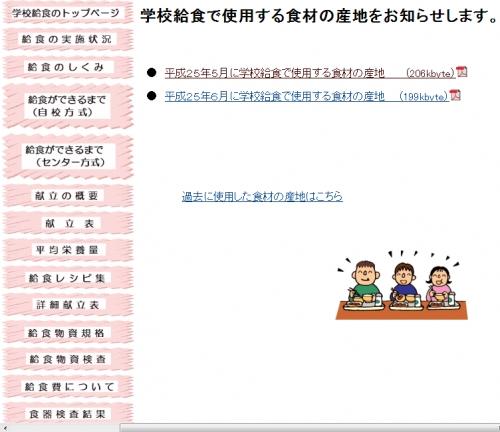 福岡市 学校給食で使用する食材の産地について